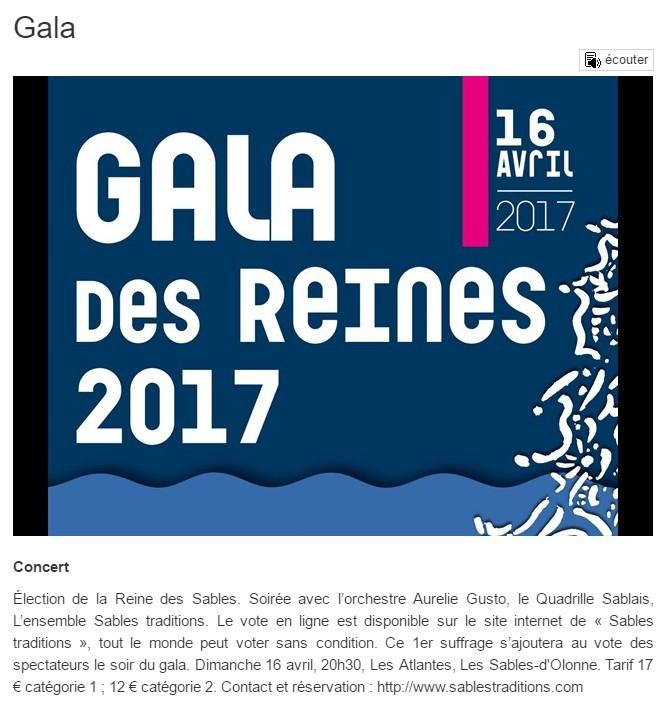 Info locale gala 2017