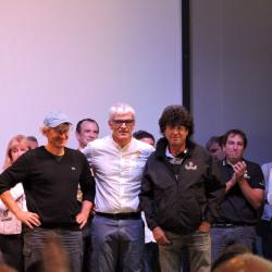 Philippe Poupon, Vincent Riou et Jean Le Cam