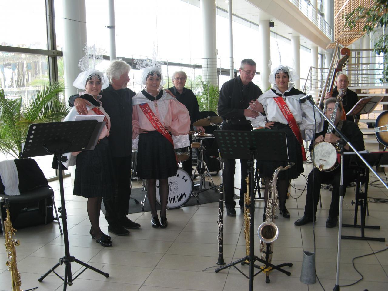 Avec l'orchestre de jazz